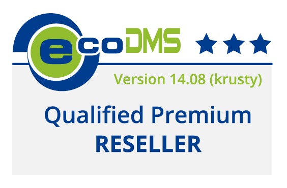 Logo ecoDMS Qualified Premium Reseller
